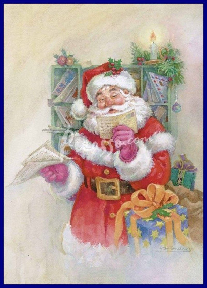On L Appelle Pere Noel : appelle, Cac34fa38aeac5f4704c9147c29bd45a.jpg, Vintage, Christmas, Cards,, Scenes