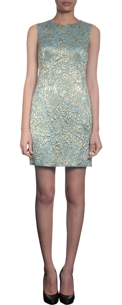dolce & gabbana brocade print dress