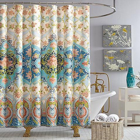 The Elegant Aquarius Shower Curtain From Jessica Simpson