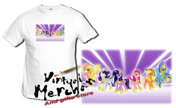 Camiseta My Little Pony Elemntos Armonia Con Fondo Tshirt T-Shirt Mujer Xxl Niño - Bekiro