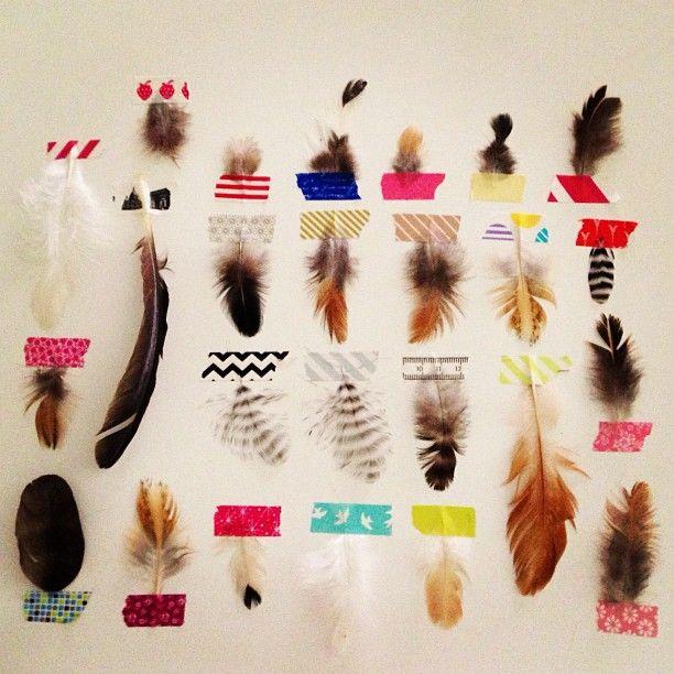 Une collection de plumes : photo by posieshoots • Instagram DIY pour enfant