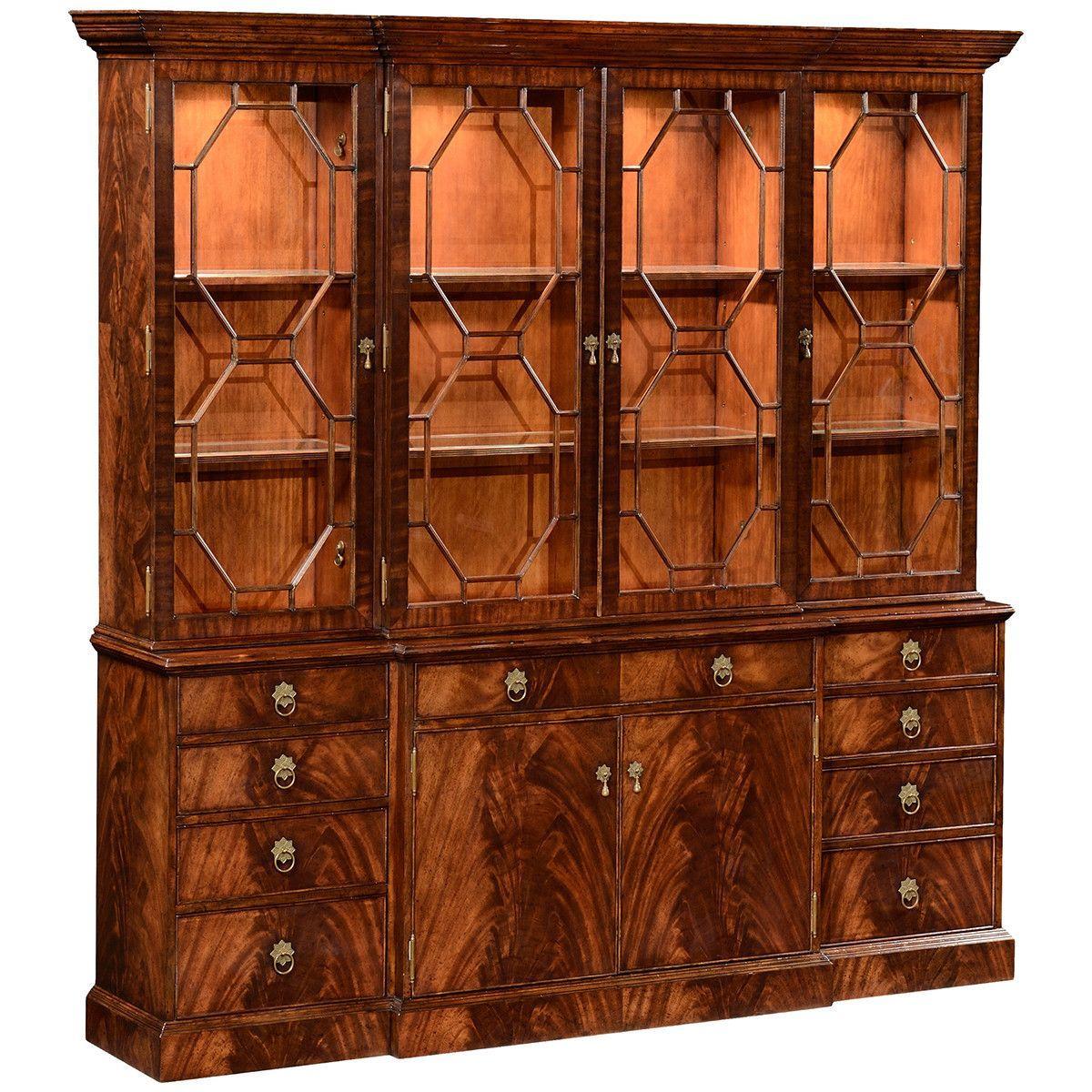 jonathan charles mahogany triple bookcase classic pinterest rh pinterest com