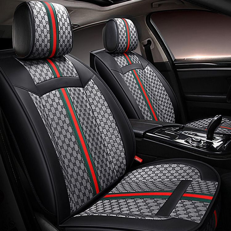 Fine 242 58 Classic Leather Gucci Print Car Seat Covers Andrewgaddart Wooden Chair Designs For Living Room Andrewgaddartcom