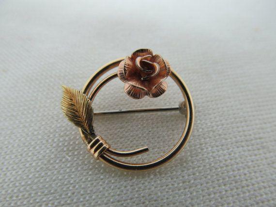 KREMENTZ Small Rose Pin Item 243 by KittyCatShop on Etsy