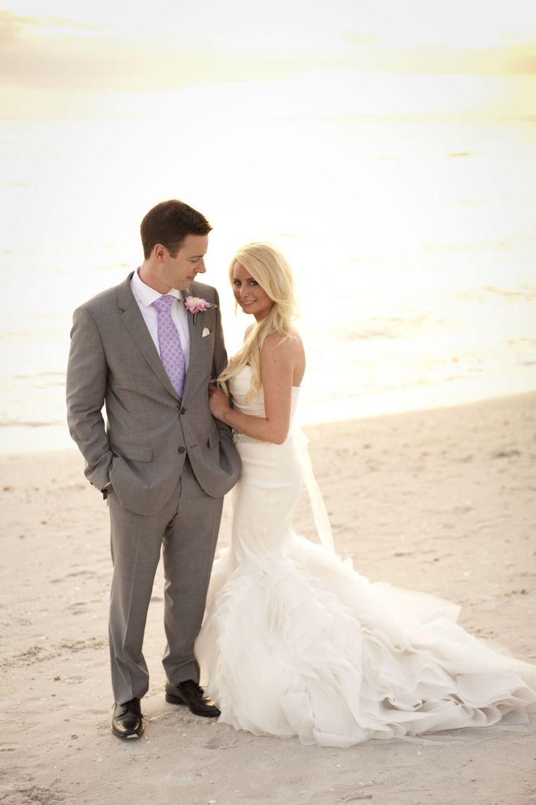 A glamorous silver u blush beach wedding beach weddings blush