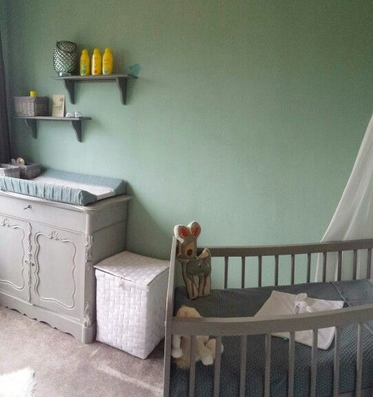 Babykamer groen biedermeier paris grey | Baby - Babykamer ...