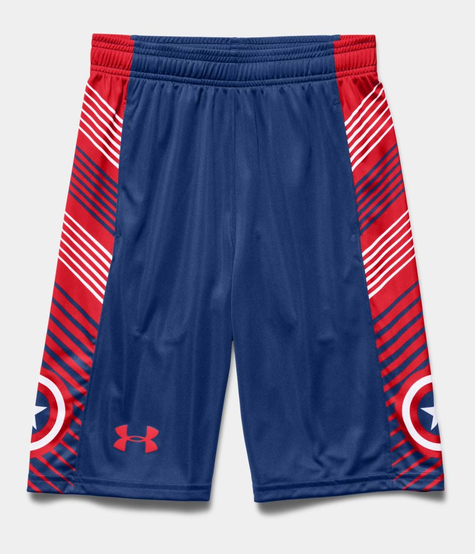 2f2c916dd8 Boys' Under Armour® Alter Ego Captain America Shorts | Under Armour ...