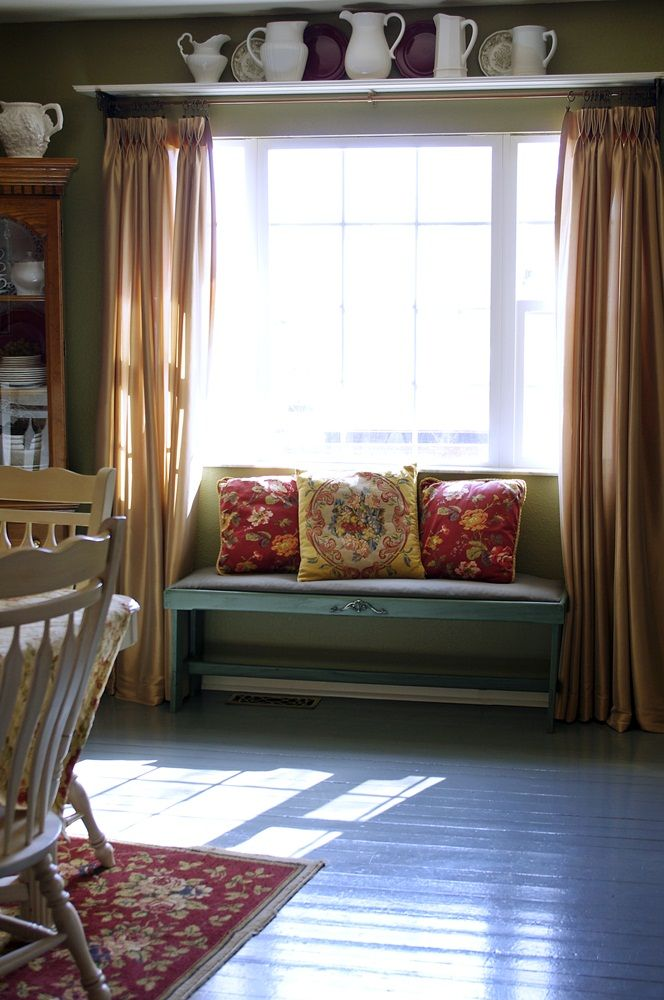 Love The Shelf Above Window With Images Living Room Bench Dining Room Bench Living Room