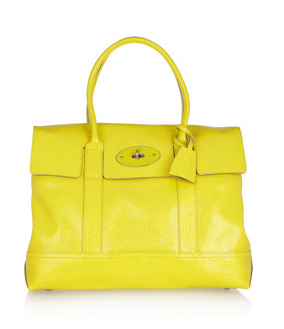 Hop on the neon bandwagon with this gorgeous Mulberry bag!