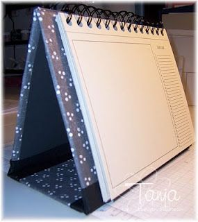 Calendar Stand Tutorial And Template Bjl Albums Notes Planners