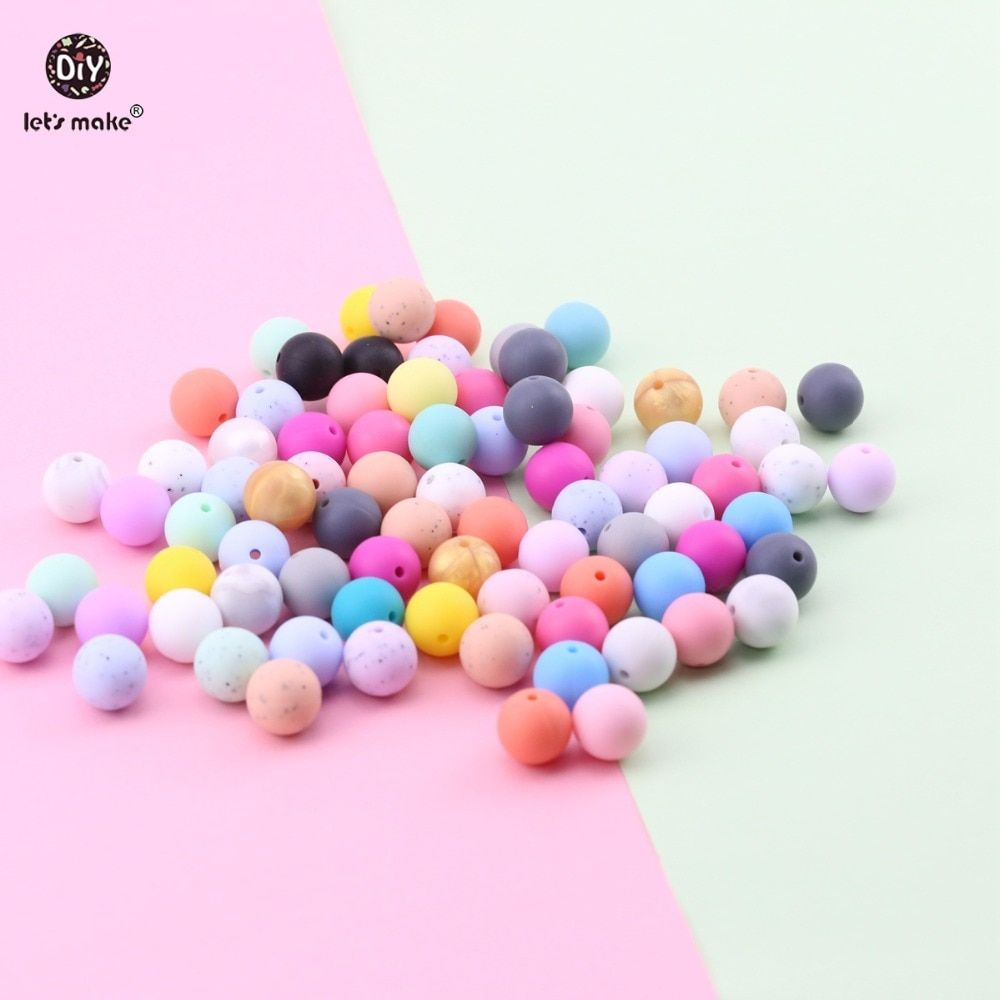 10PC Silicone Beads Teether Baby Teething Bead Necklace Pacifier Chewing Toy DIY