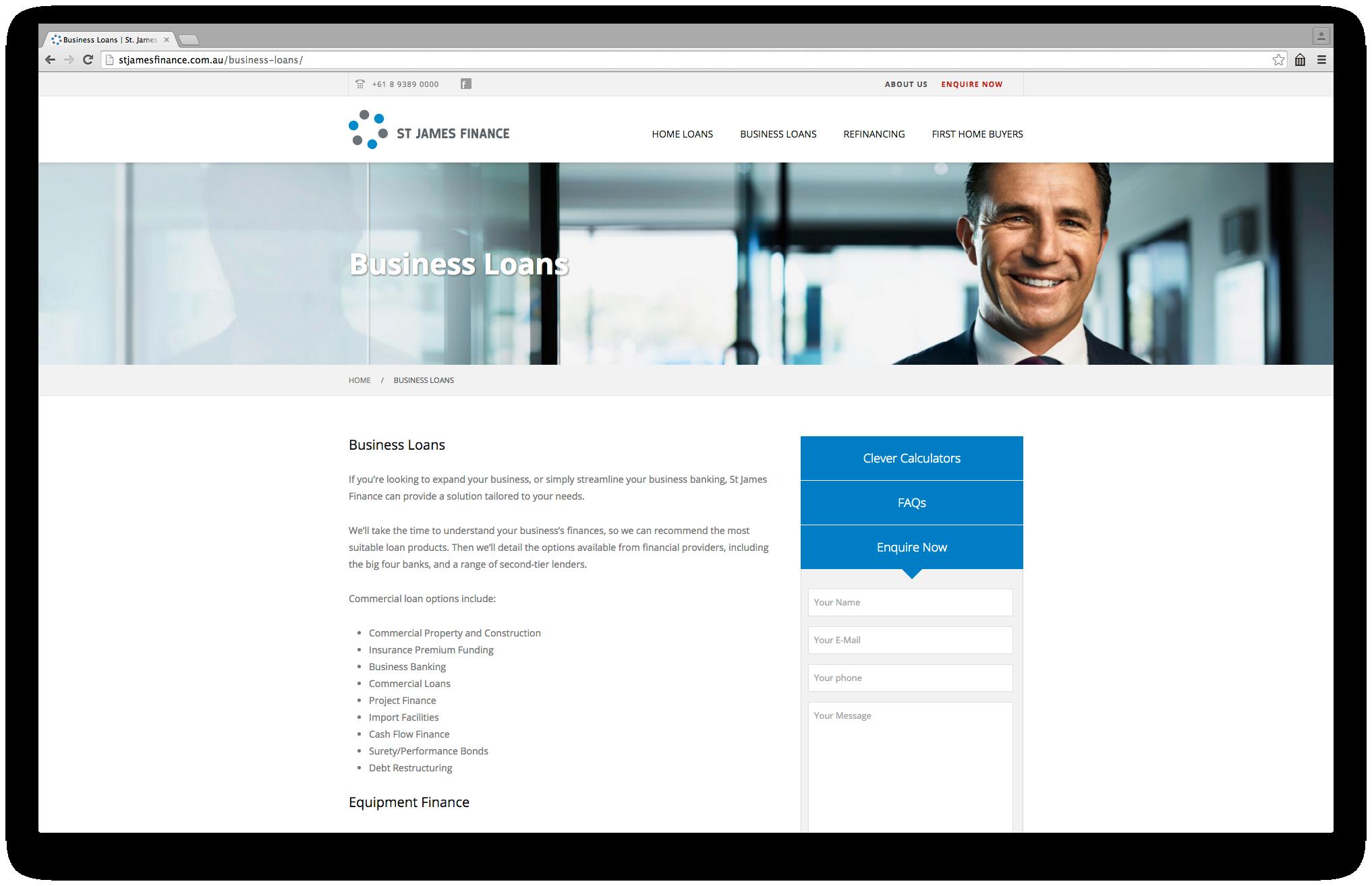 St James Finance Website On Behance Finance Finance Loans