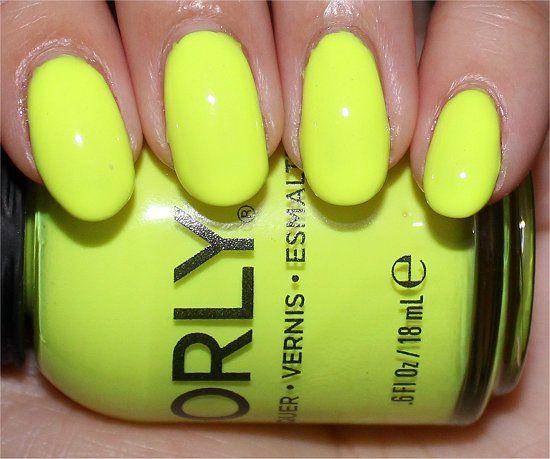 Orly Glowstick Swatches Neon Yellow Nail Polish