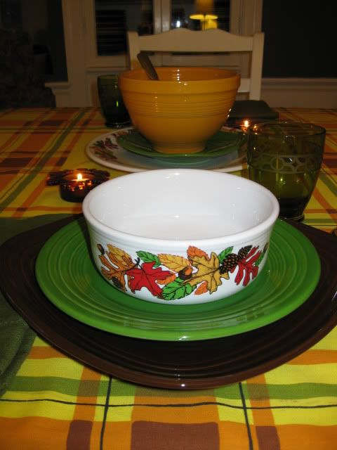 Fiesta® Dinnerware Autumn tabletop | This bowl is the Fiesta® chowder bowl. Square & Fiesta® Dinnerware Autumn tabletop | This bowl is the Fiesta ...