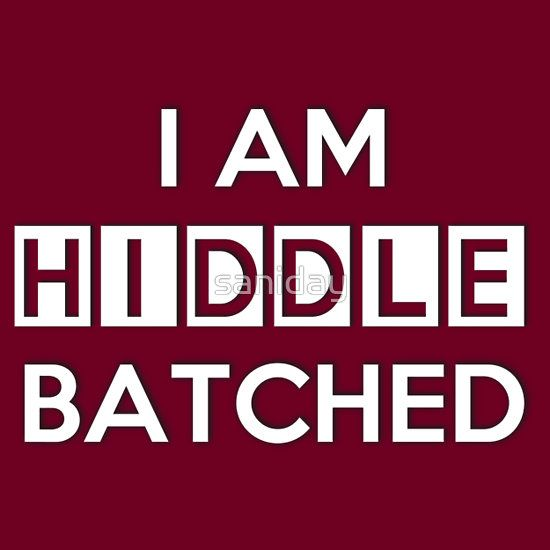 Hiddlebatched -- how can I mix those two fandoms, you ask? Because of wibbly wobbly timey wimey, that's how.