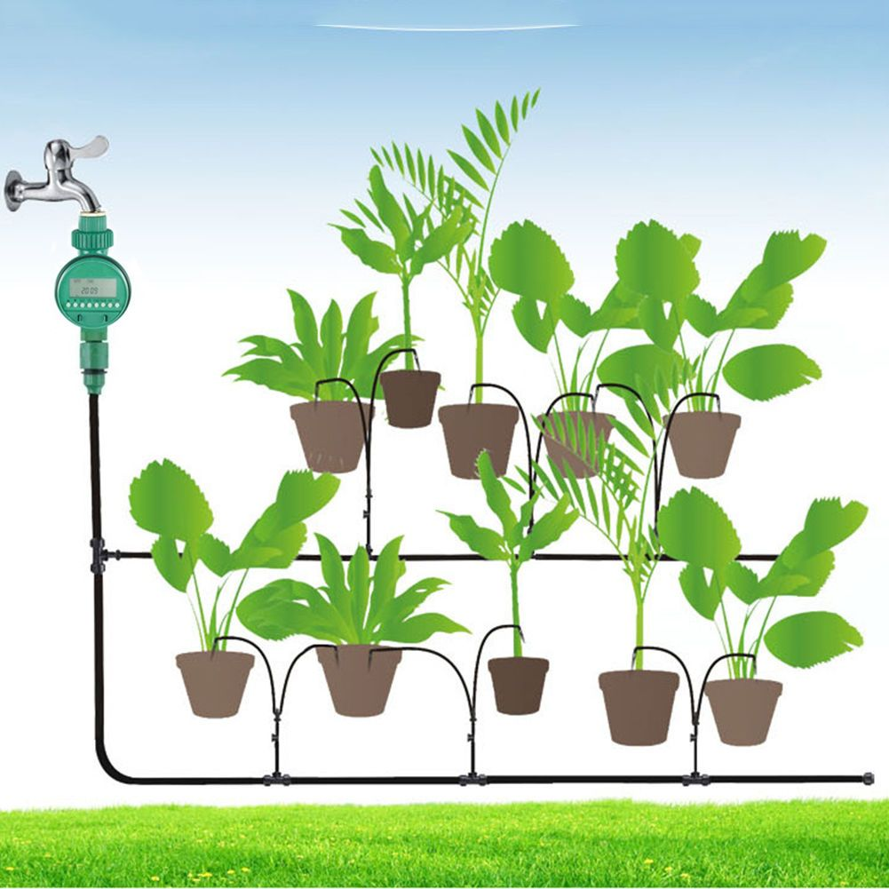 Diy Micro Drip Irrigation System Auto Timer Plant Self Watering