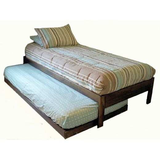 Wooden Twin Bed With Trundle I Bet This Bed Could By Diy