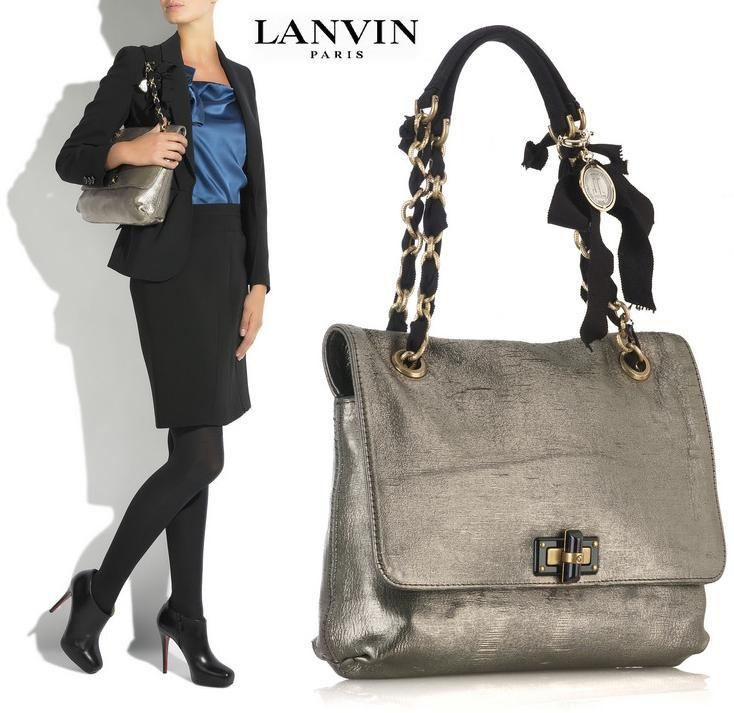 Neutrally Dazzling Hy Partage Lame Bag From Lanvin