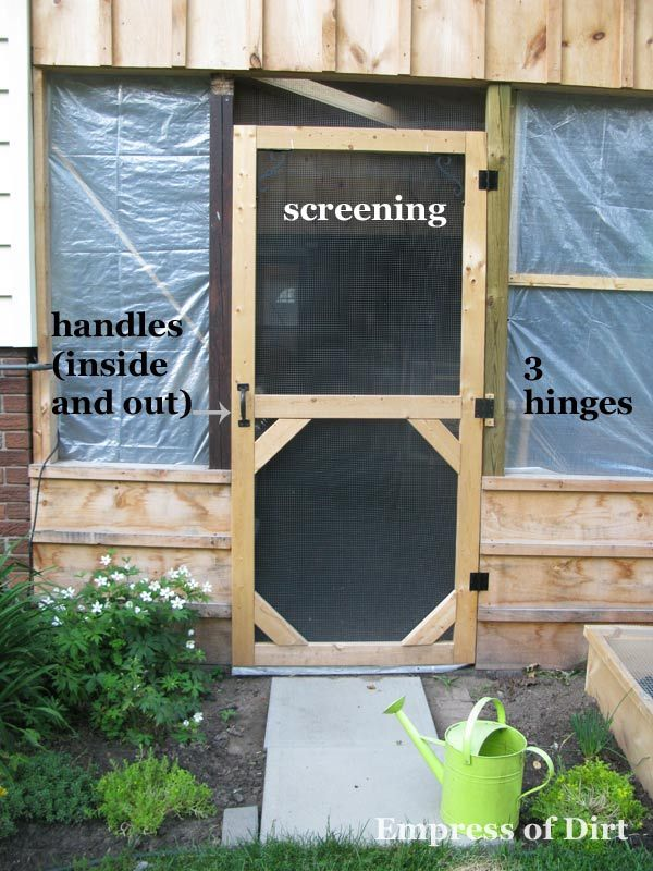 Make A Custom Size Garden Screen Door Empress Of Dirt Diy Screen Door Screen Door Wood Screen Door