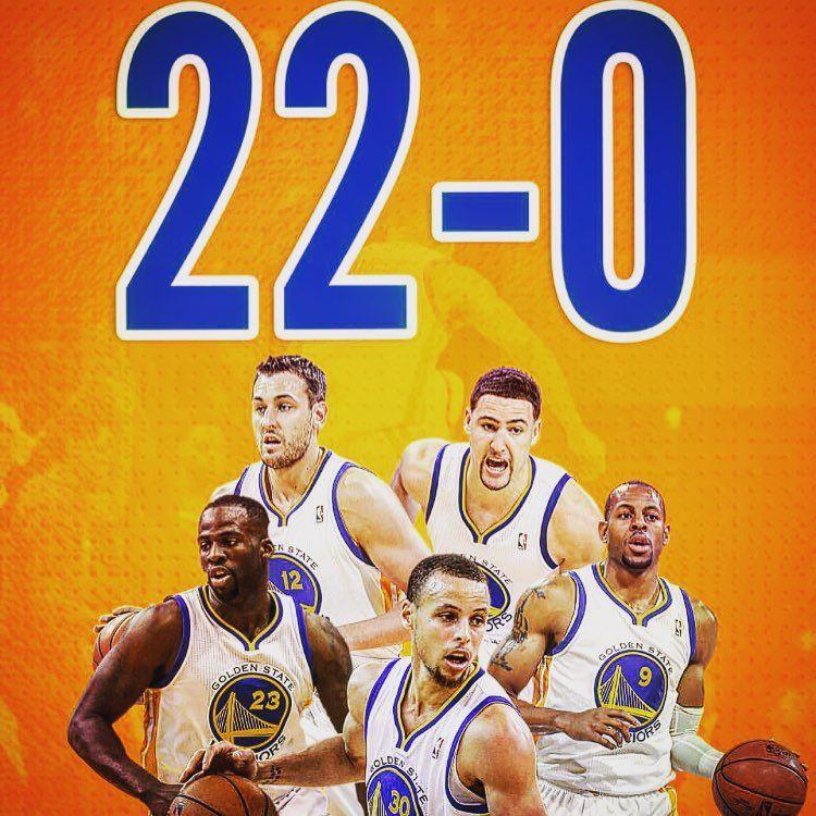 #WarriorsUndefeated 22-0 !