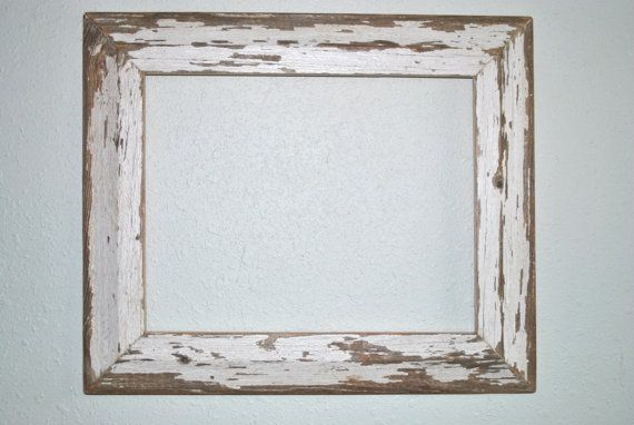 11x14 Chippy White Wood Frame Reclaimed Old Texas Cottage Wood Picture Frames Picture On Wood Wooden Picture Frames