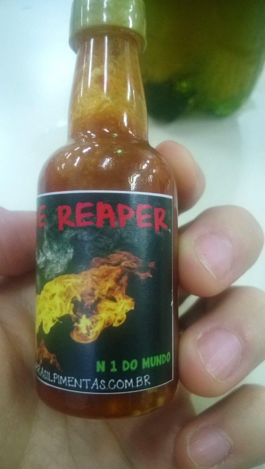 Carolina Reaper Pepper Sauce Made By Brasil Pimentas