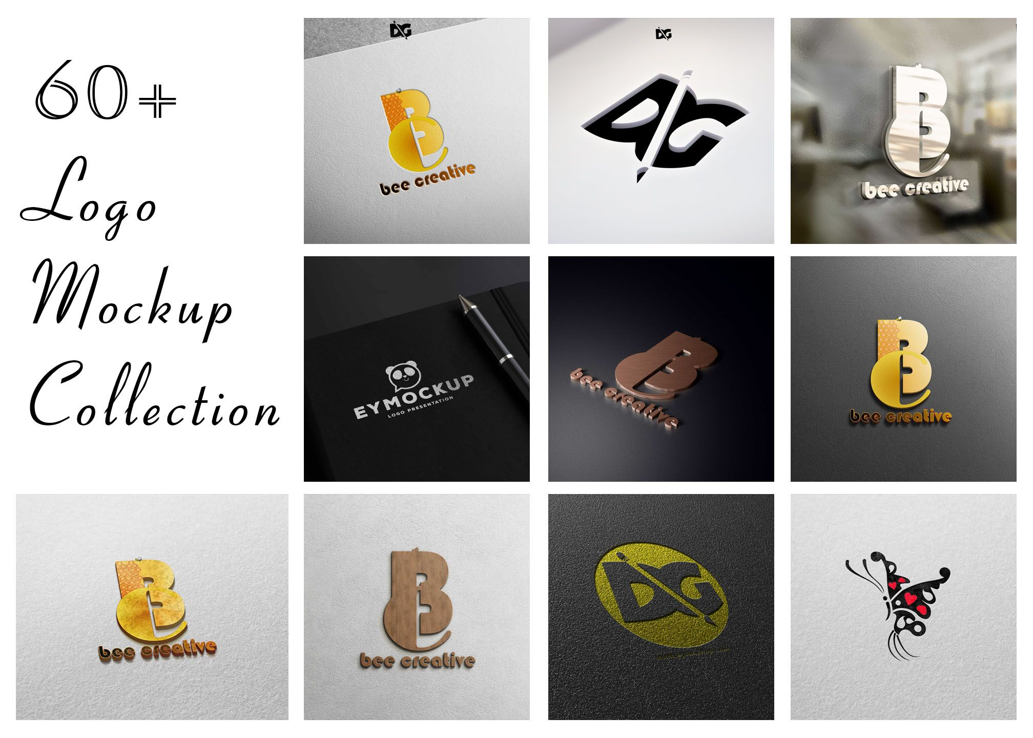 Download Gold 3d Logo Mockup Free Yellowimages