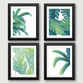 Charming Tropical Leaf Prints, Tropical Leaf Art, Tropical Wall Decor, Banana Leaf,  Beach