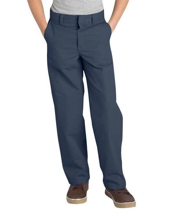 4b11bc9329 Boys' Classic Fit Straight Leg Flat Front Pants, 8-20 Husky | Back ...