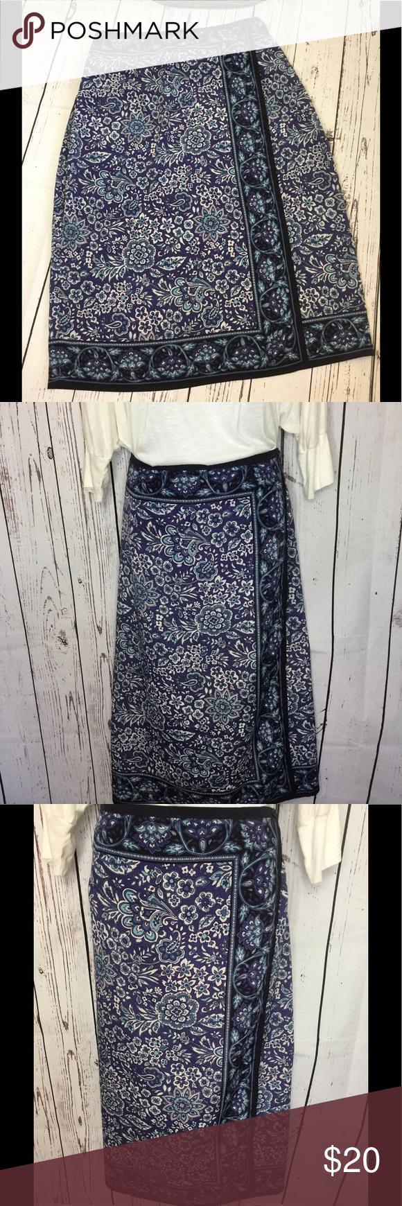 e0ea85a65bf EUC Sag Harbor Plus Size Faux Wrap Skirt EUC Sag Harbor size 16 faux wrap  skirt. Beautiful blue and white print with back elastic waist.