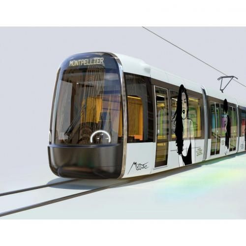 tramway montpellier floril ge de vos r actions sur le design de la ligne 5 transportation. Black Bedroom Furniture Sets. Home Design Ideas