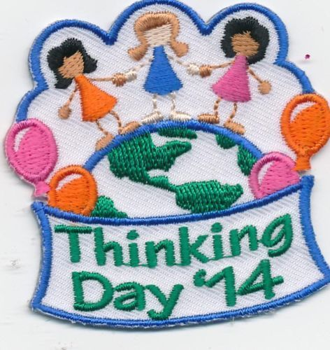 NEW Thinking Day Girl Scout Fun Patch Badge International World