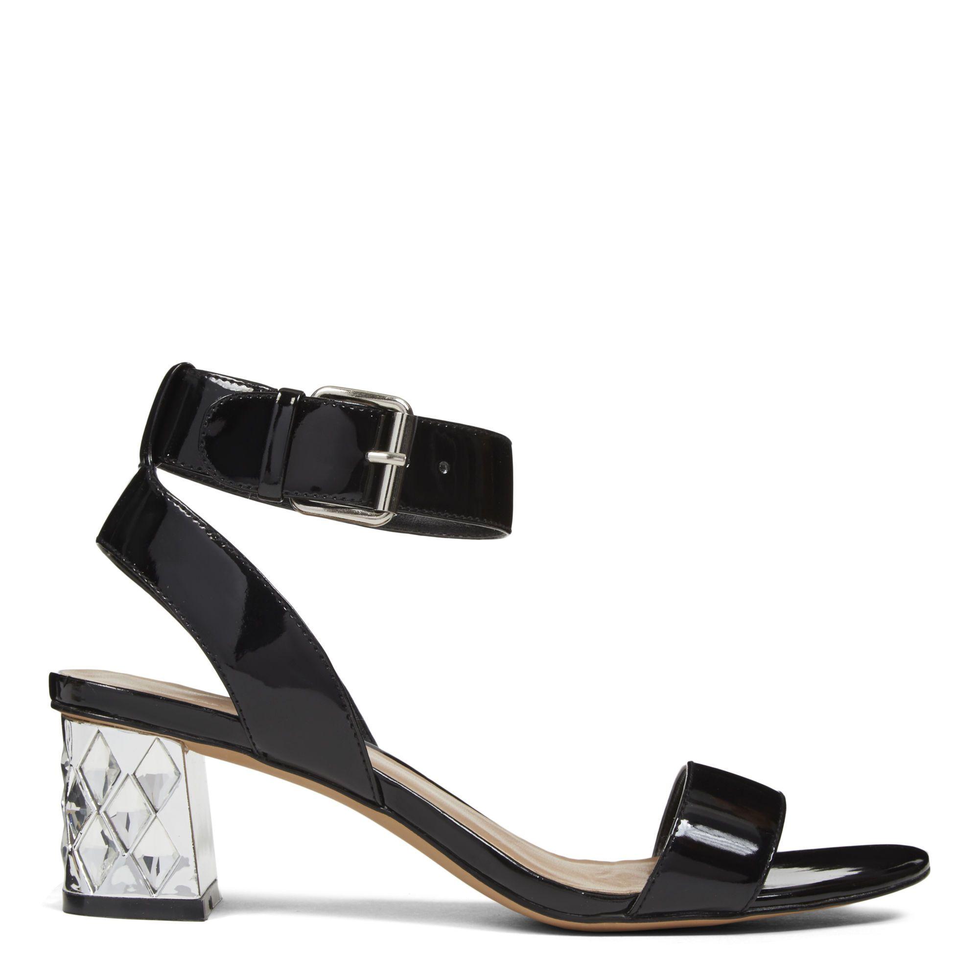 Black sandals nine west - Black Patent Shineon Open Toe Sandals Nine West