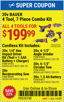 June Coupon Book 134 New Coupons In 2020 Combo Kit Harbor Freight Tools Coupon Book