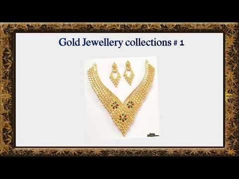 New Designs Beautiful Gold Jewellery collections 1 Fashion