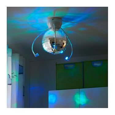 IKEA DANSA Disco Ball With LED Lighting Joshua Bedroom - Disco lights for bedroom
