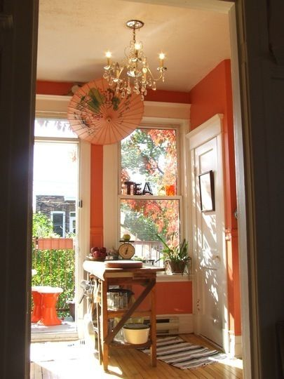 Room for Color Winner Heather\u0027s Coral Rental Kitchen Coral