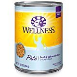 Wellness Natural Grain Free Wet Canned Cat Food Beef & Salmon Pate 12.5-Ounce Can (Pack of 24)