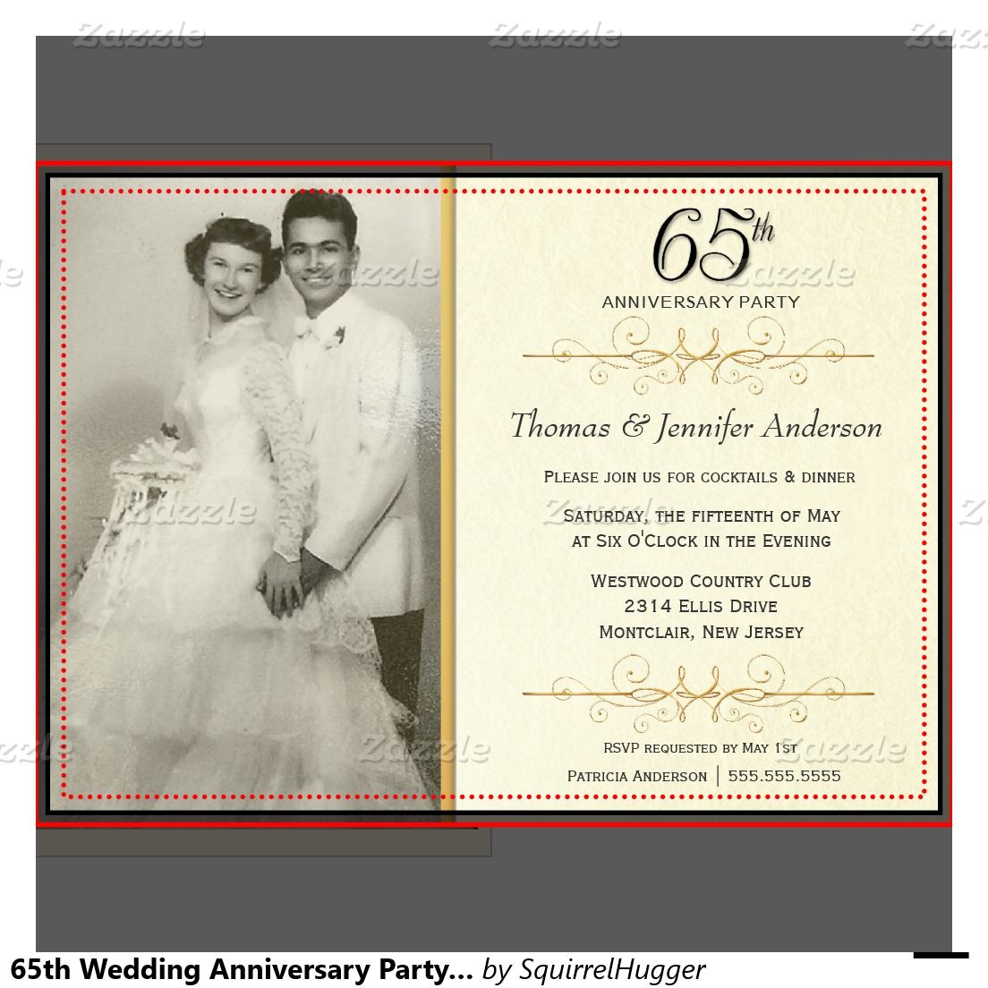 65th wedding anniversary invitations google search invitations and cards pinterest. Black Bedroom Furniture Sets. Home Design Ideas