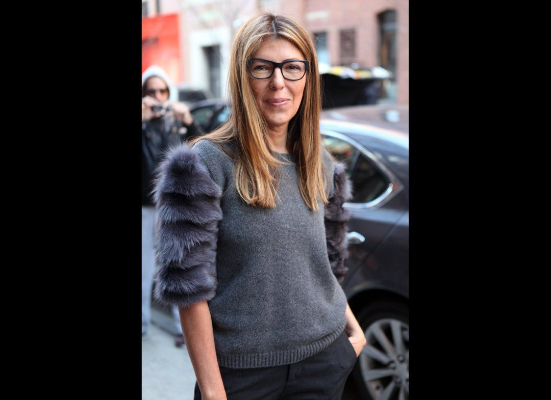 16aa6f90d4 How much do we adore Nina s furry sleeves  And the glasses  So chic ...