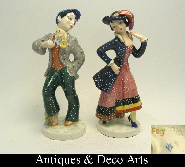 2 Seltene Goebel Peggie Foy Figuren Nr 1 A B Mann Frau Stylish