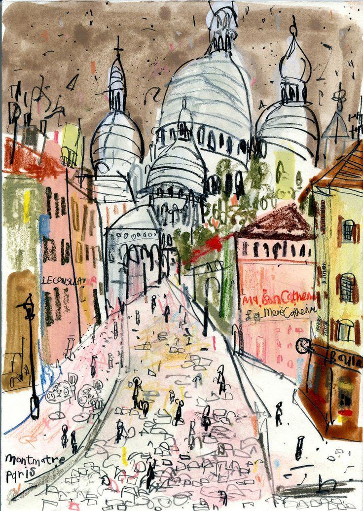 Montmartre ~ Claire Caufield | Men, Romance, and Aesthetics | Paris