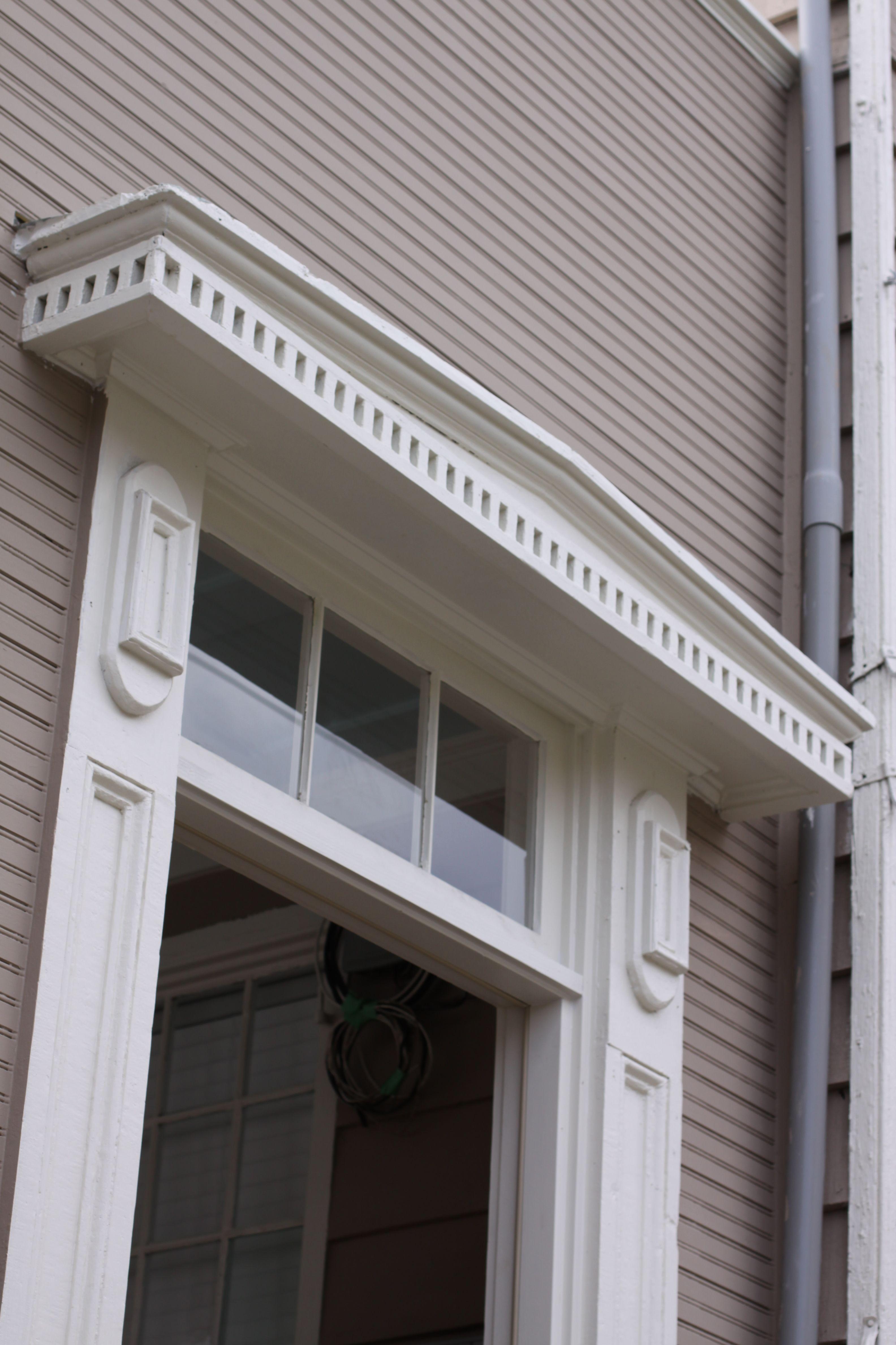 Restored front door pediment and pilasters Rock Creek Craftsmen