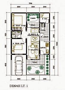 50+ contoh gambar denah rumah minimalis | denah rumah