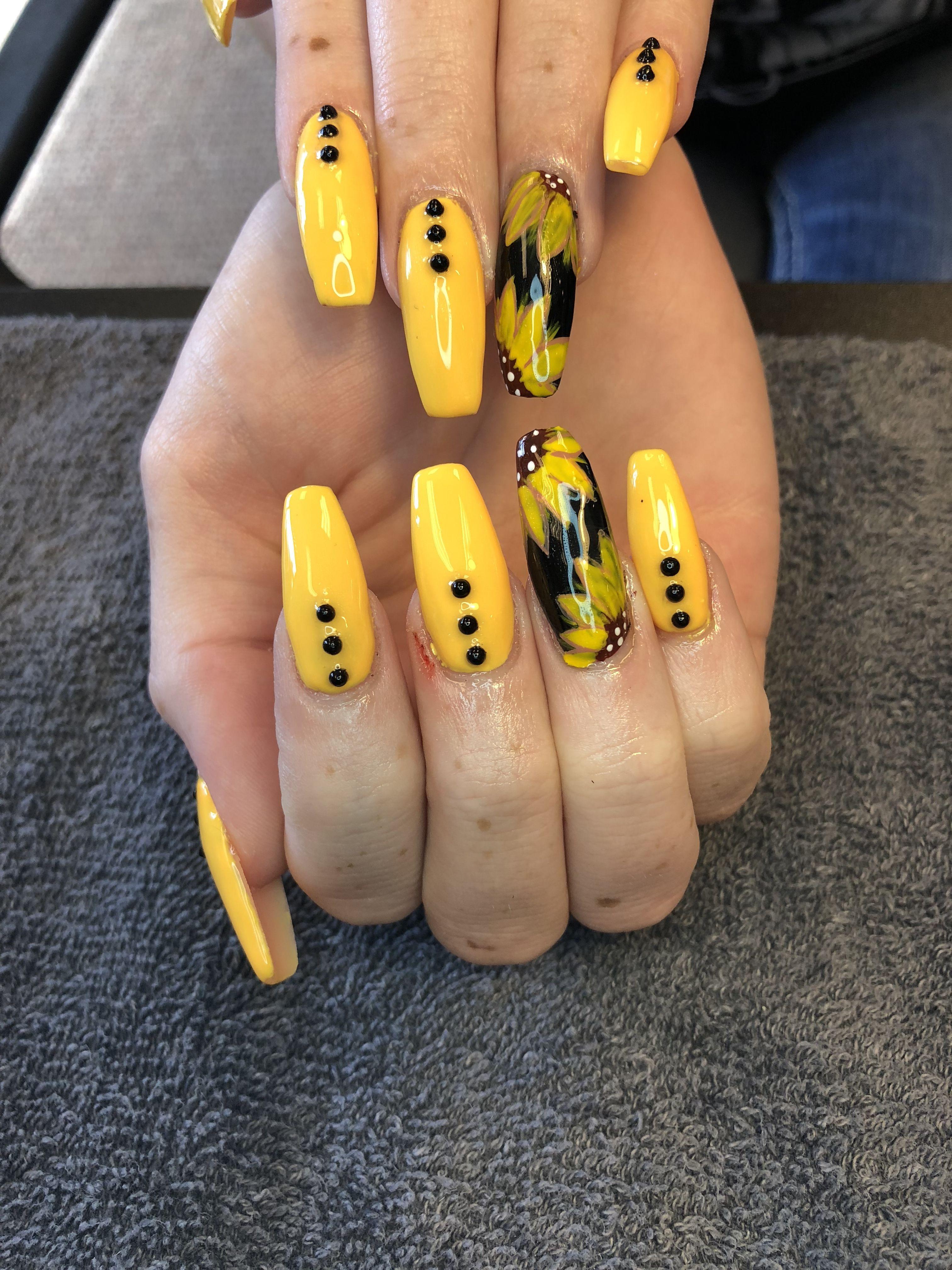 nails, yellow, and pretty image | Thanksgiving nails