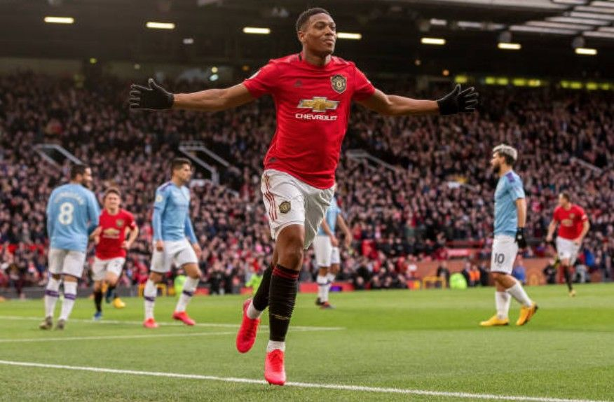 Antony Martial In 2020 Manchester Derby Mufc Manchester United Manchester