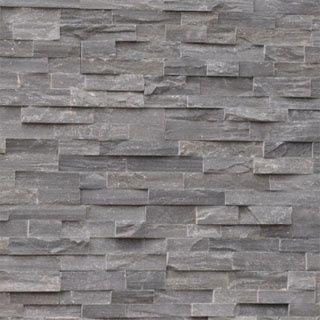 Steenstrips grijs kwartsiet badkamer pinterest grijs natuursteen en huis inrichting - Deco toilet grijs ...