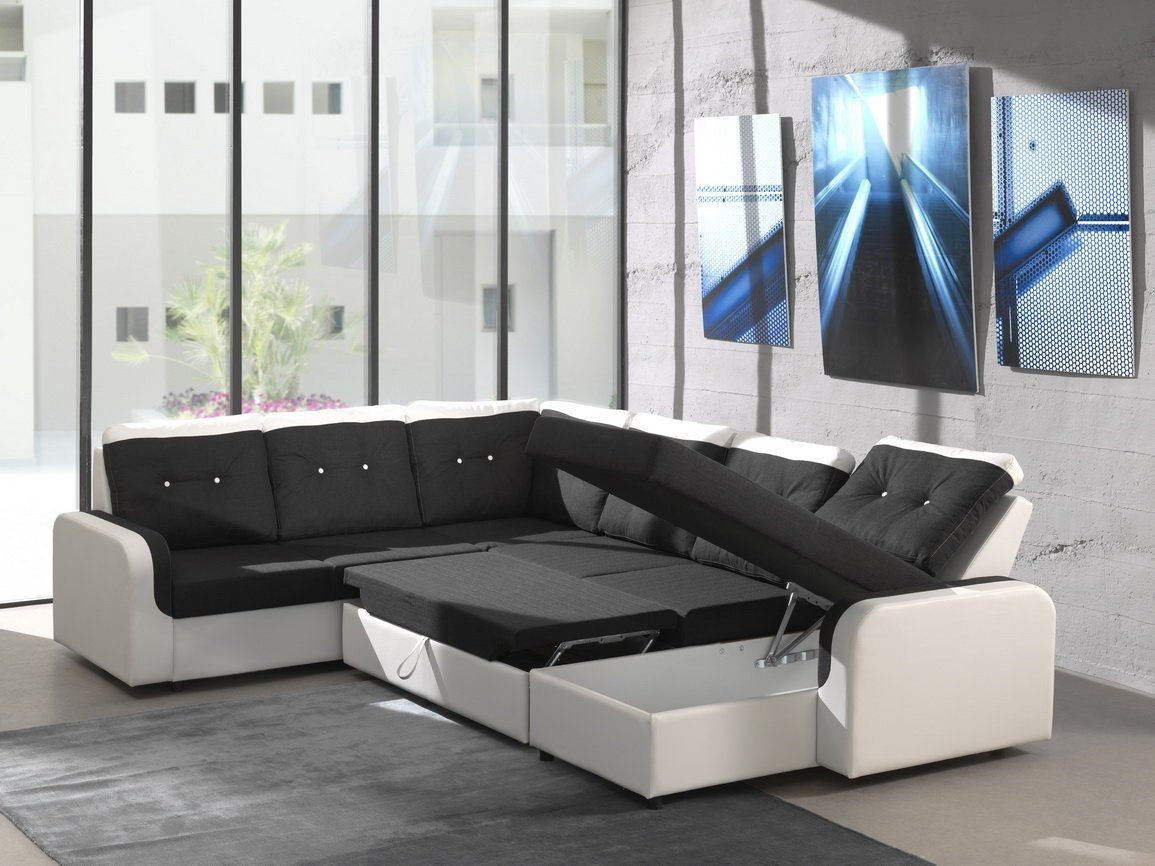 Corner sofa Bond3 with Bed function Sleep function Interior design ...