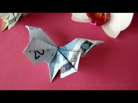Geldgeschenke Basteln Geldscheine Falten Schmetterling Youtube