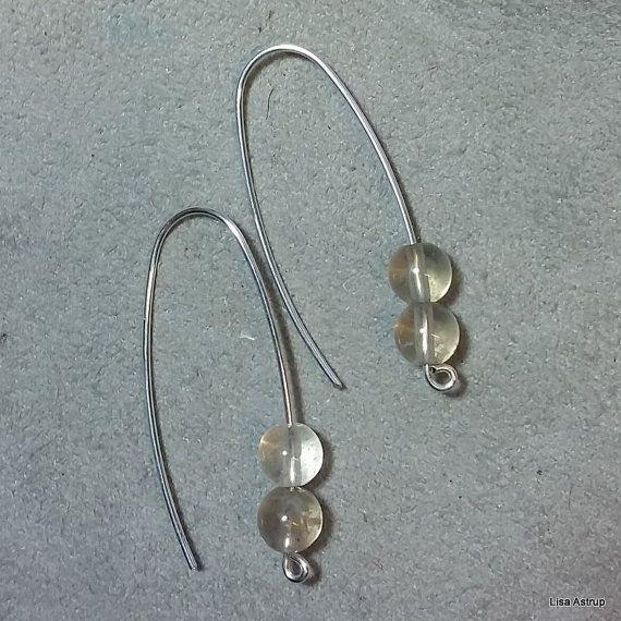 Flourite silver earrings, minimal simple design, modern